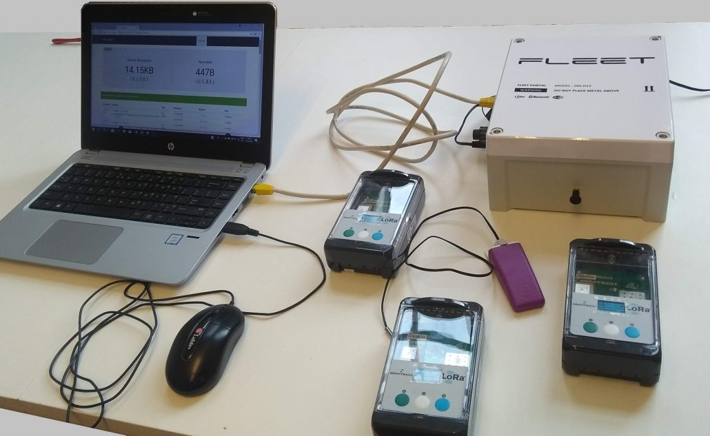 Fleet portal and sensor used for Drips project